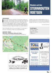 Sternrouten Artikel in Eifel pur Februar 2021