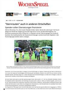 Sternrouten Artikel Wochenspiegel 24.06.2021