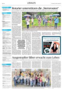 Artikel Sternrouten in Aachener Zeitung vom 05.07.2021