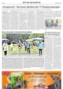 Artikel über Sternrouten Zeitung am Sonntag 04.07.2021